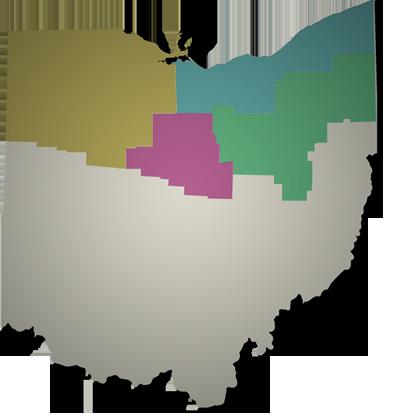 Northern Ohio map